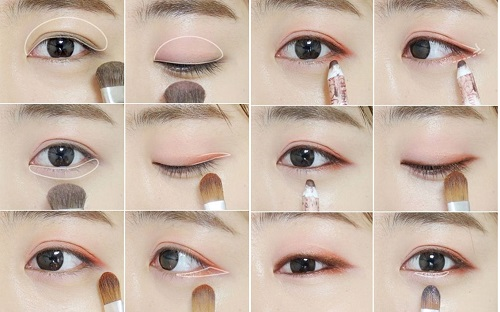 3 Cách đánh mí mắt đẹp cực đơn giản - mắt bật tông đẹp lonh lanh 3