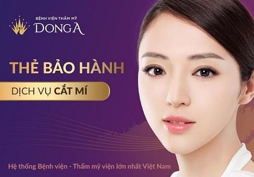 Bệnh viện Thẩm mỹ Đông Á đơn vị ứng dụng CN thẩm mỹ mắt số 1 Việt Nam